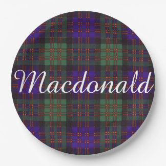 Macdonald Clan Plaid Scottish tartan Paper Plate