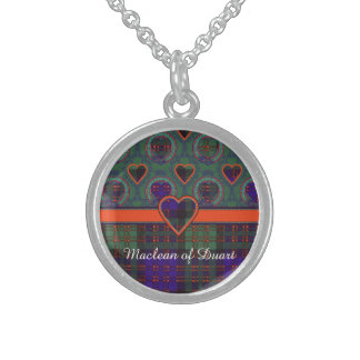 Macdonald Clan Plaid Scottish tartan Sterling Silver Necklace