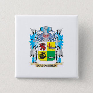 Macdonald- Coat of Arms - Family Crest 15 Cm Square Badge