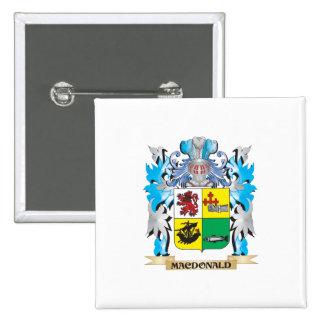 Macdonald- Coat of Arms - Family Crest 15 Cm Square Badge