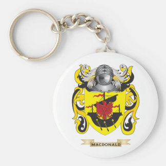 MacDonald Coat of Arms (Family Crest) Basic Round Button Key Ring
