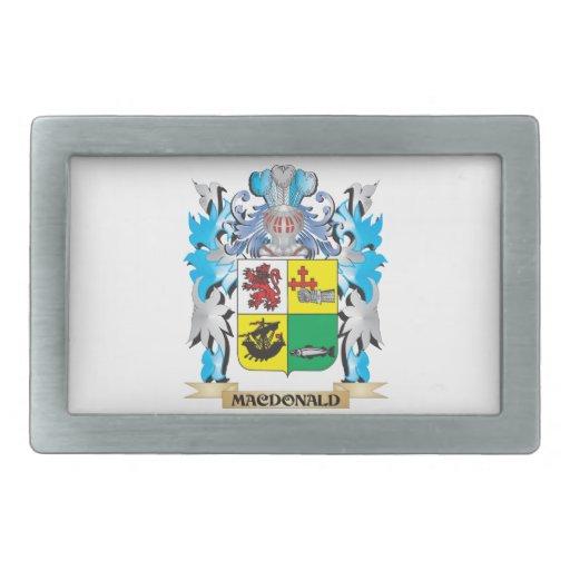 Macdonald- Coat of Arms - Family Crest Rectangular Belt Buckles