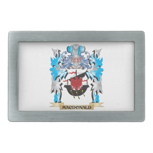 Macdonald Coat of Arms - Family Crest Belt Buckles