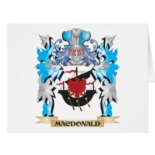 Macdonald Coat of Arms - Family Crest Greeting Cards
