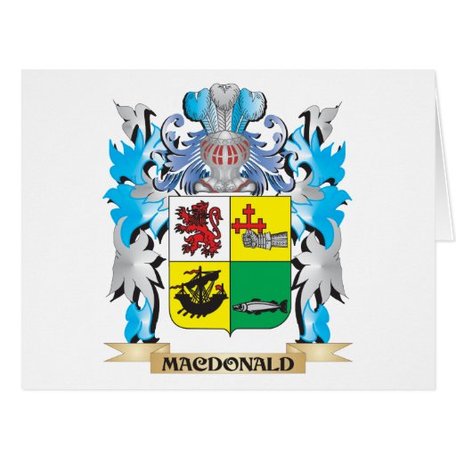 Macdonald- Coat of Arms - Family Crest Greeting Cards