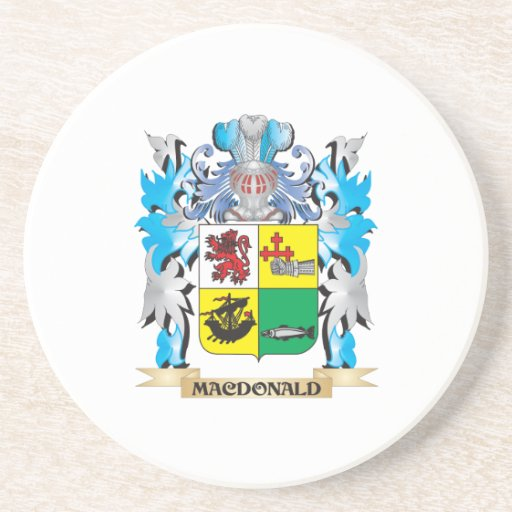 Macdonald- Coat of Arms - Family Crest Drink Coaster