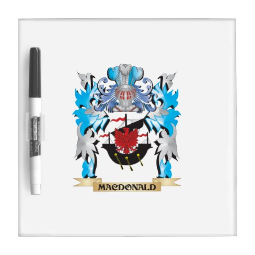 Macdonald Coat of Arms - Family Crest Dry Erase Boards