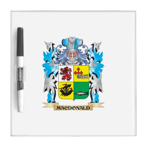 Macdonald- Coat of Arms - Family Crest Dry-Erase Boards