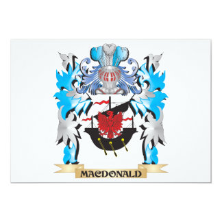Macdonald Coat of Arms - Family Crest Personalized Invite