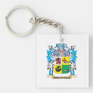 Macdonald- Coat of Arms - Family Crest Square Acrylic Key Chains