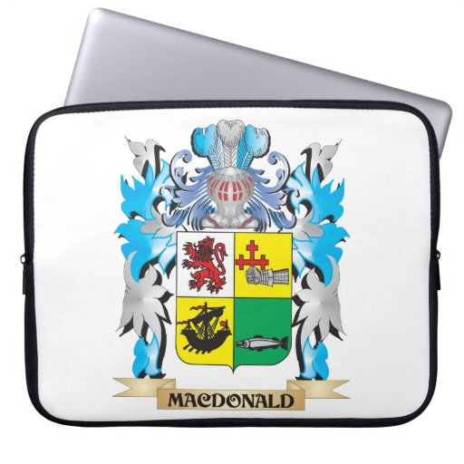 Macdonald- Coat of Arms - Family Crest Laptop Sleeve