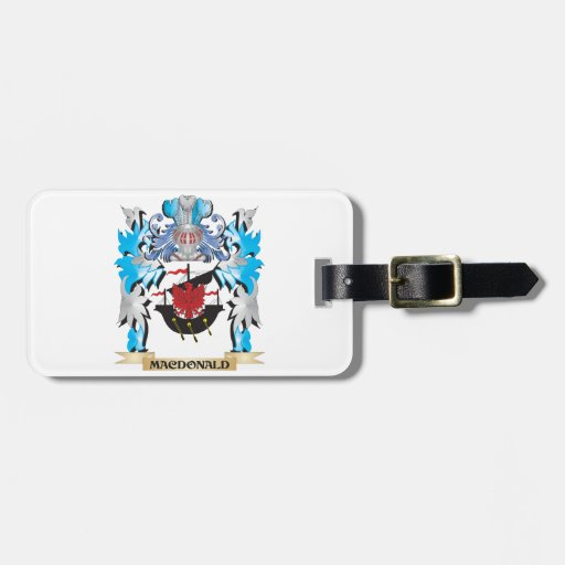 Macdonald Coat of Arms - Family Crest Travel Bag Tags