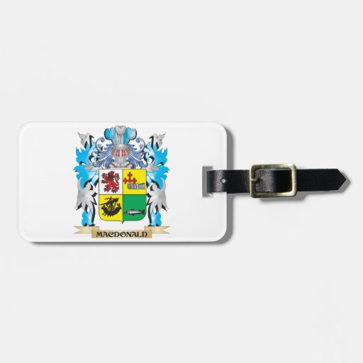 Macdonald- Coat of Arms - Family Crest Travel Bag Tag