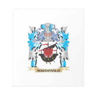 Macdonald Coat of Arms - Family Crest Memo Note Pad