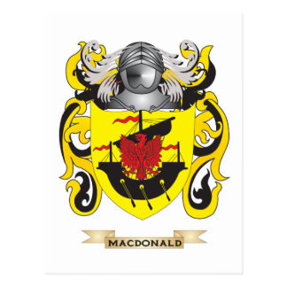 MacDonald Coat of Arms (Family Crest) Postcard