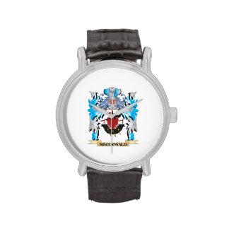 Macdonald Coat of Arms - Family Crest Wrist Watch