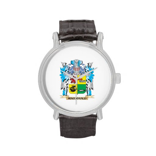 Macdonald- Coat of Arms - Family Crest Wristwatches