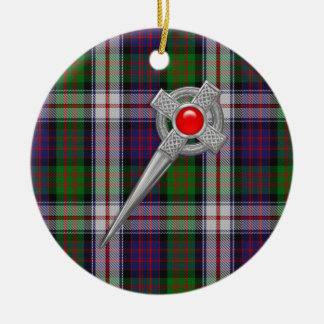 MacDonald Dress Tartan & Celtic Knot Kilt Pin Christmas Ornament
