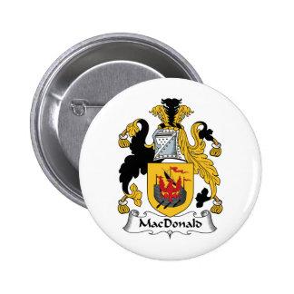MacDonald Family Crest 6 Cm Round Badge