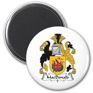MacDonald Family Crest 6 Cm Round Magnet