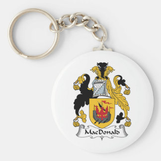 MacDonald Family Crest Basic Round Button Key Ring