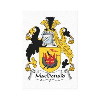 MacDonald Family Crest Canvas Prints