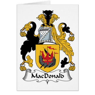 MacDonald Family Crest Greeting Cards