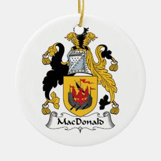 MacDonald Family Crest Christmas Tree Ornament