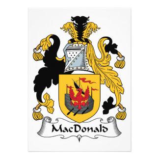 MacDonald Family Crest Invites