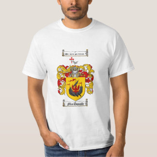 Macdonald Family Crest - Macdonald Coat of Arms T-Shirt