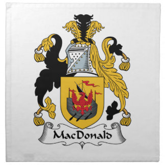 MacDonald Family Crest Cloth Napkins