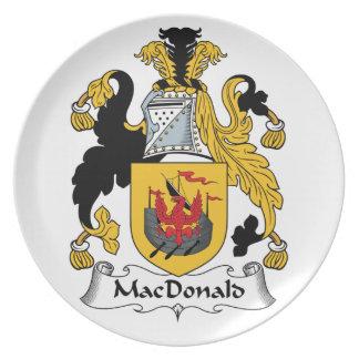 MacDonald Family Crest Dinner Plates