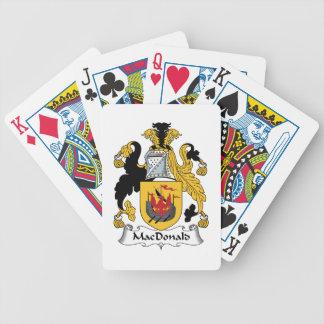 MacDonald Family Crest Poker Cards