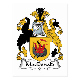 MacDonald Family Crest Post Cards
