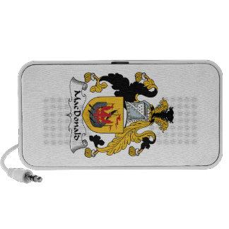 MacDonald Family Crest iPod Speakers