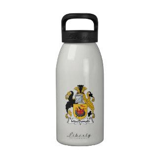 MacDonald Family Crest Reusable Water Bottle