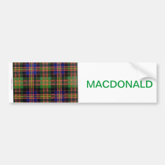 MACDONALD FAMILY TARTAN BUMPER STICKER