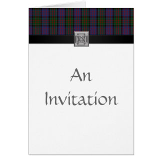 MacDonald of Clanranald Tartan Plaid Invitations 3