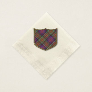 Macdonald of Clanranalld Plaid Scottish tartan Disposable Napkin