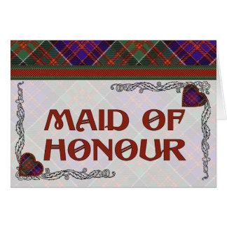 MacDonald of Clanranalld Scottish Tartan Greeting Card