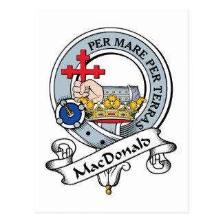 MacDonald of Donald Clan Badge Postcard