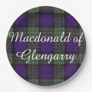 Macdonald of Glengarry clan Plaid Scottish tartan Paper Plate