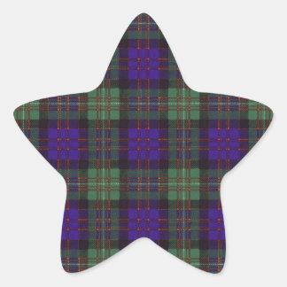 Macdonald of Glengarry clan Plaid Scottish tartan Star Sticker
