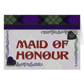 MacDonald of Glengarry Scottish Heart design Greeting Card