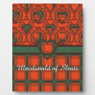 Macdonald of Sleate Plaid Scottish tartan Plaque