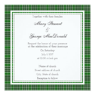 MacDonald Of The Isles Ancient Scottish Wedding Card