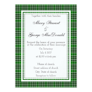 MacDonald Of The Isles Ancient Scottish Wedding In Card