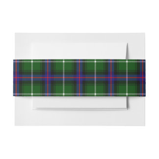 MacDonald Of The Isles Scottish Tartan Belly Band Invitation Belly Band