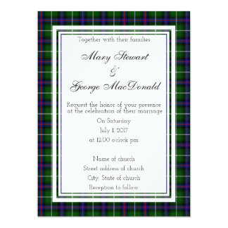 MacDonald Of The Isles Scottish Wedding Invitation