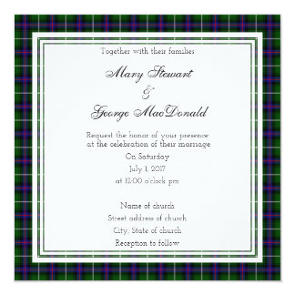 MacDonald Of The Isles Scottish Wedding Square Card